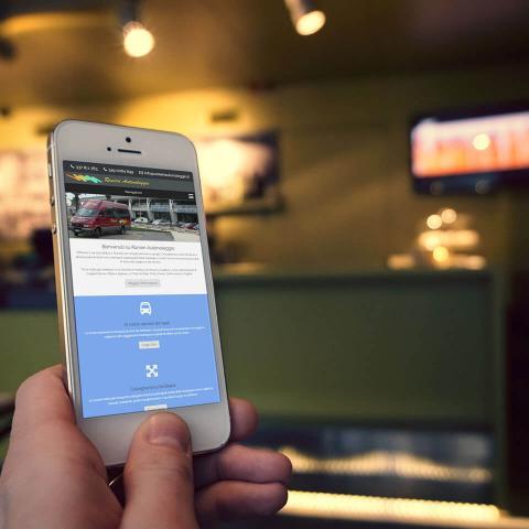 Sito Ranieri Autonoleggio anteprima su Smartphone